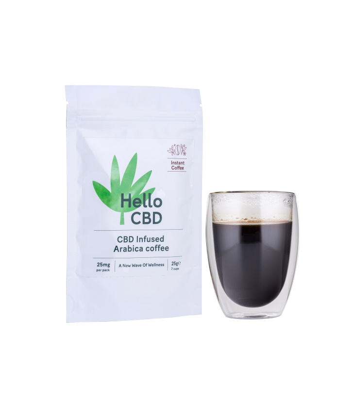 HELLO CBD 25MG INFUSED INSTANT COFFEE 25G