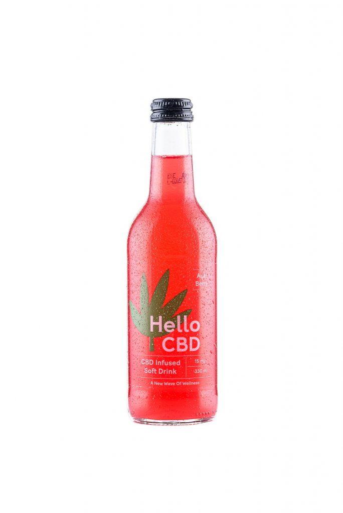 Acai Berry CBD Infused Drink Hello CBD