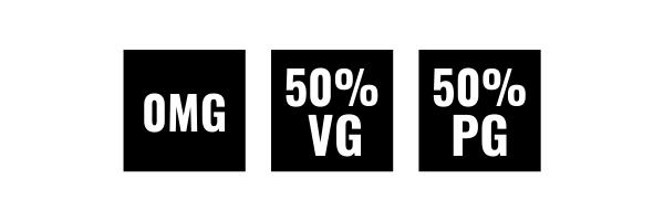 0MG 50VG 50PG